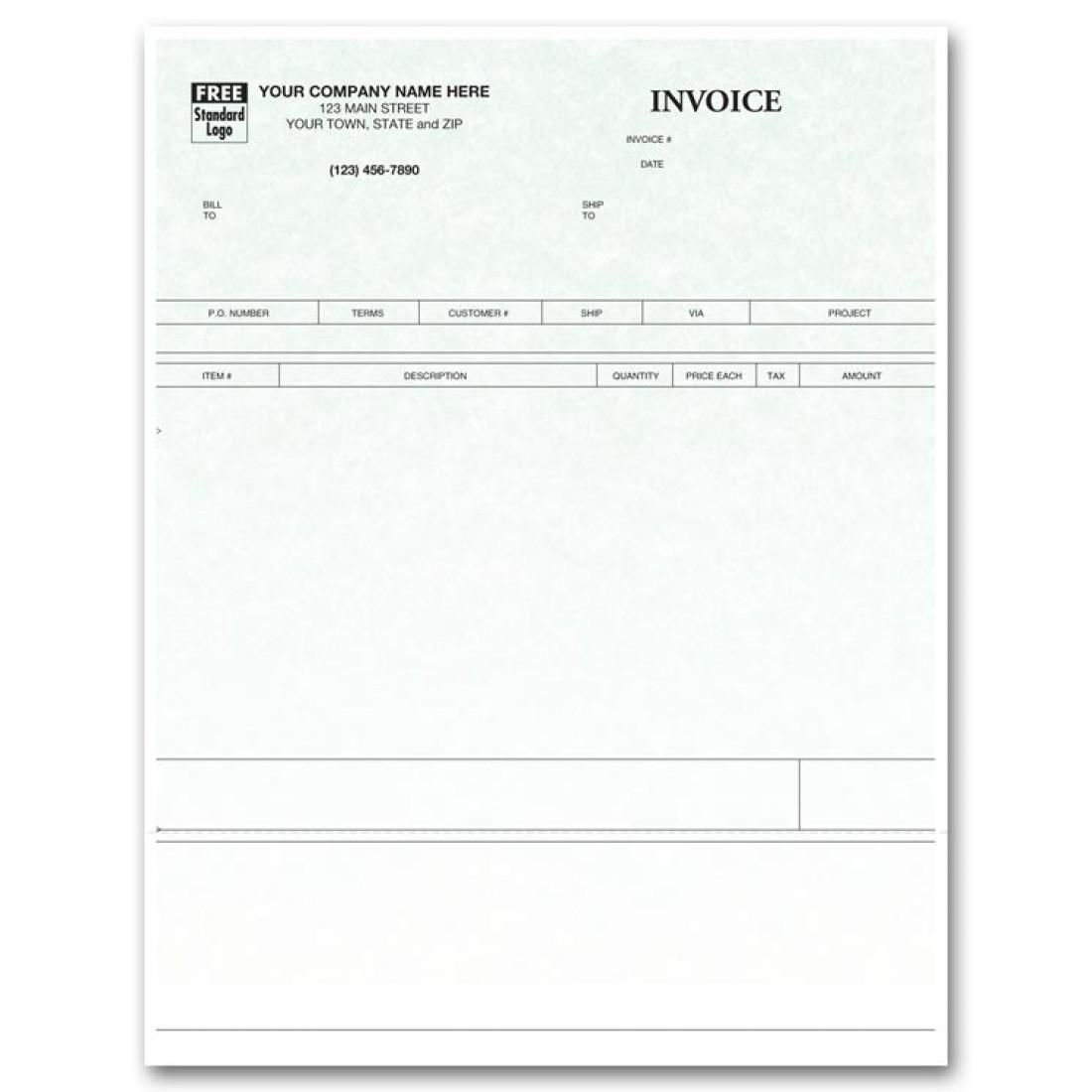 Laser Product Invoice - Parchment