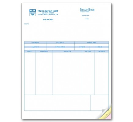 Laser Product Invoice for Peachtree