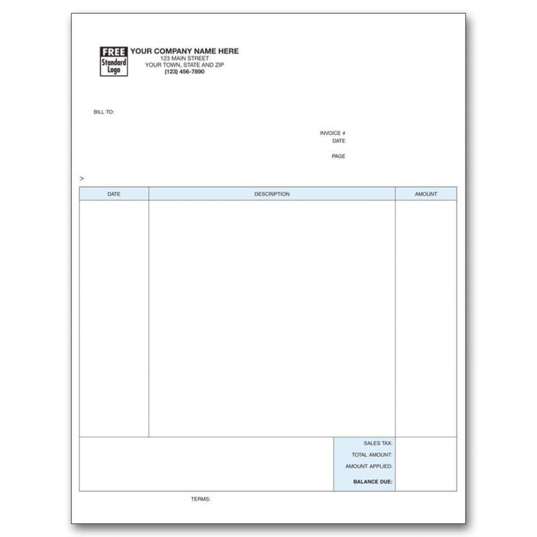 Laser Professional Invoice