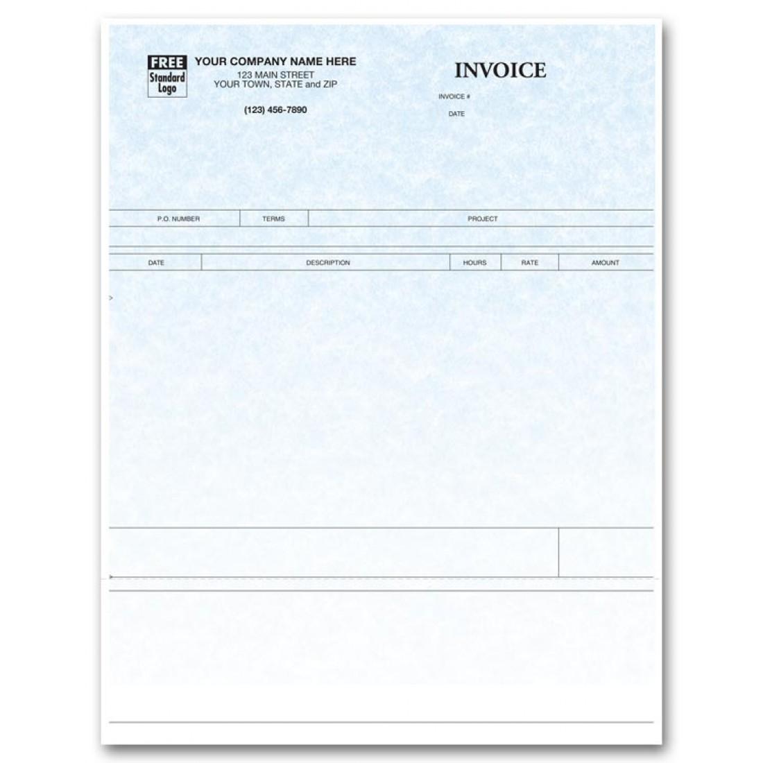 Laser Service Invoice - Parchment