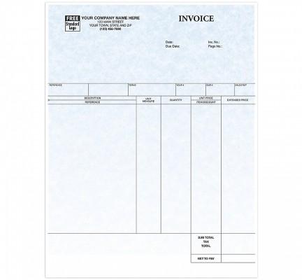 Laser Service Invoice Parchment