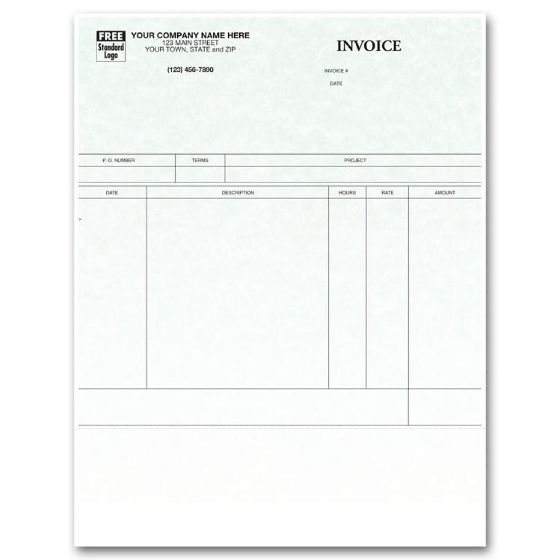 Laser Service Invoice for ProVenture - Parchment