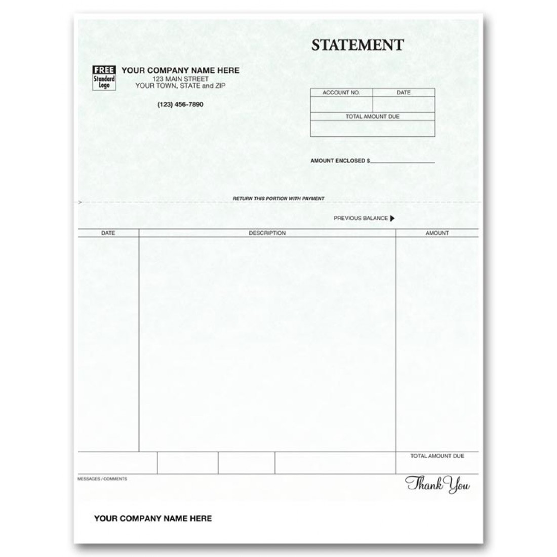 Laser Statement for Clip - Parchment