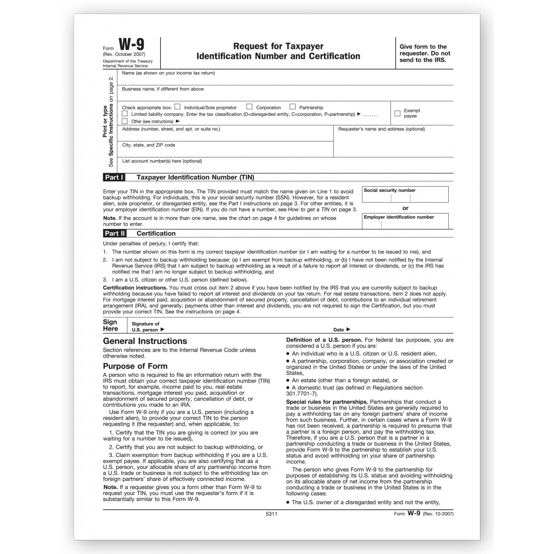 Laser Tax Forms W 9 Carton