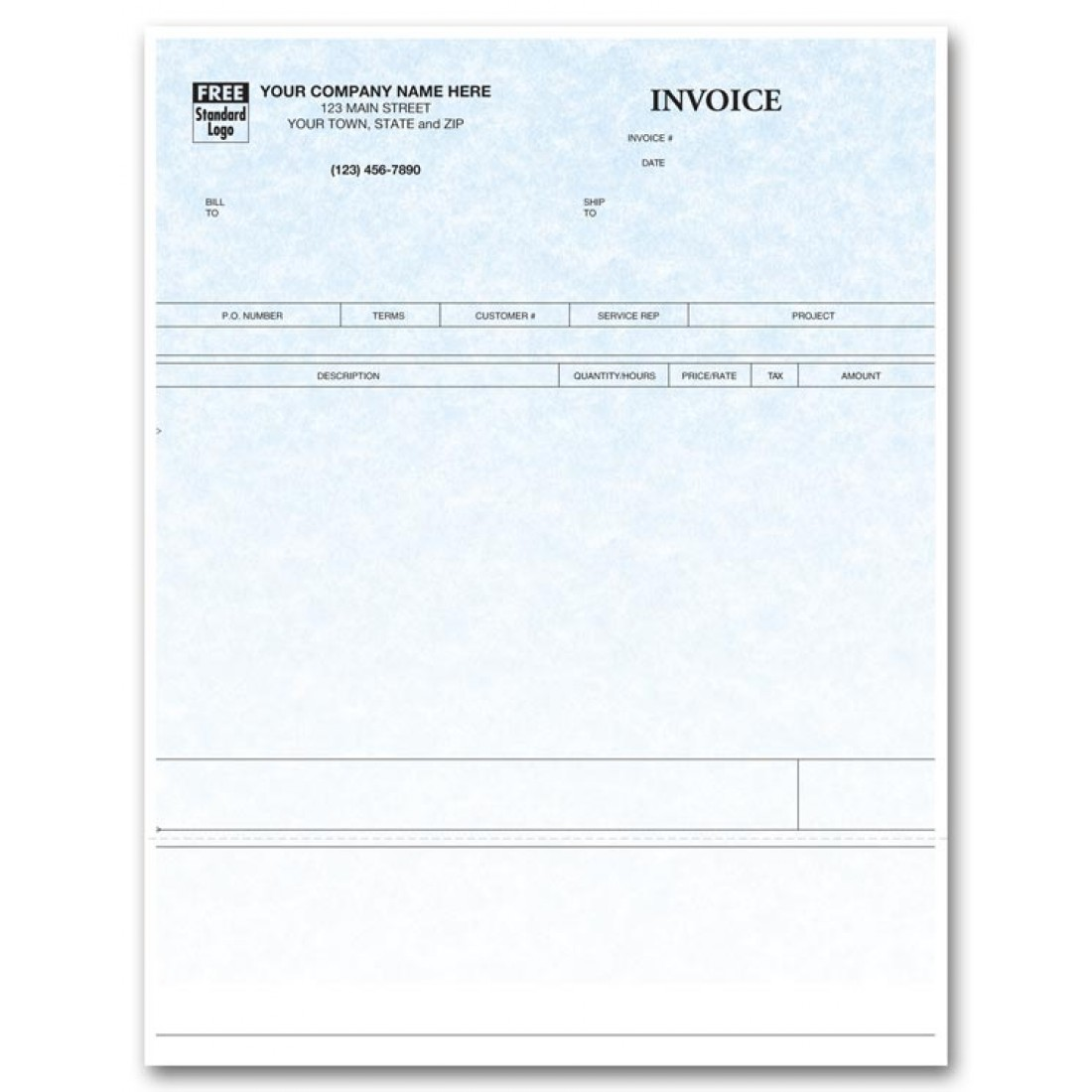 Laser Time & Materials Invoice - Parchment