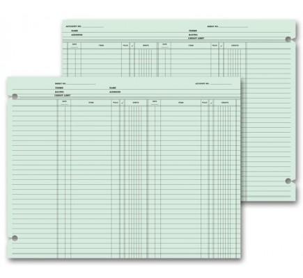 Ledger Sheets - Double Entry
