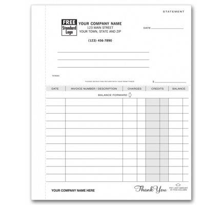 Lined Statement Business Forms