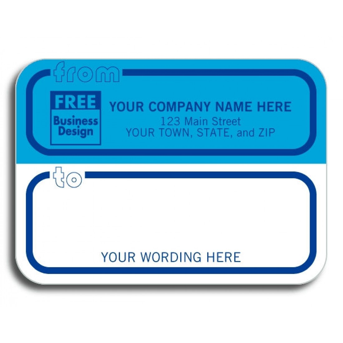 Mailing Labels with Free Logo