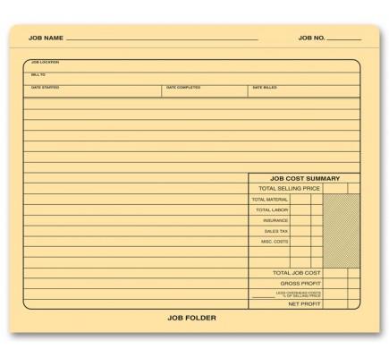 Manila Stock Job Folders