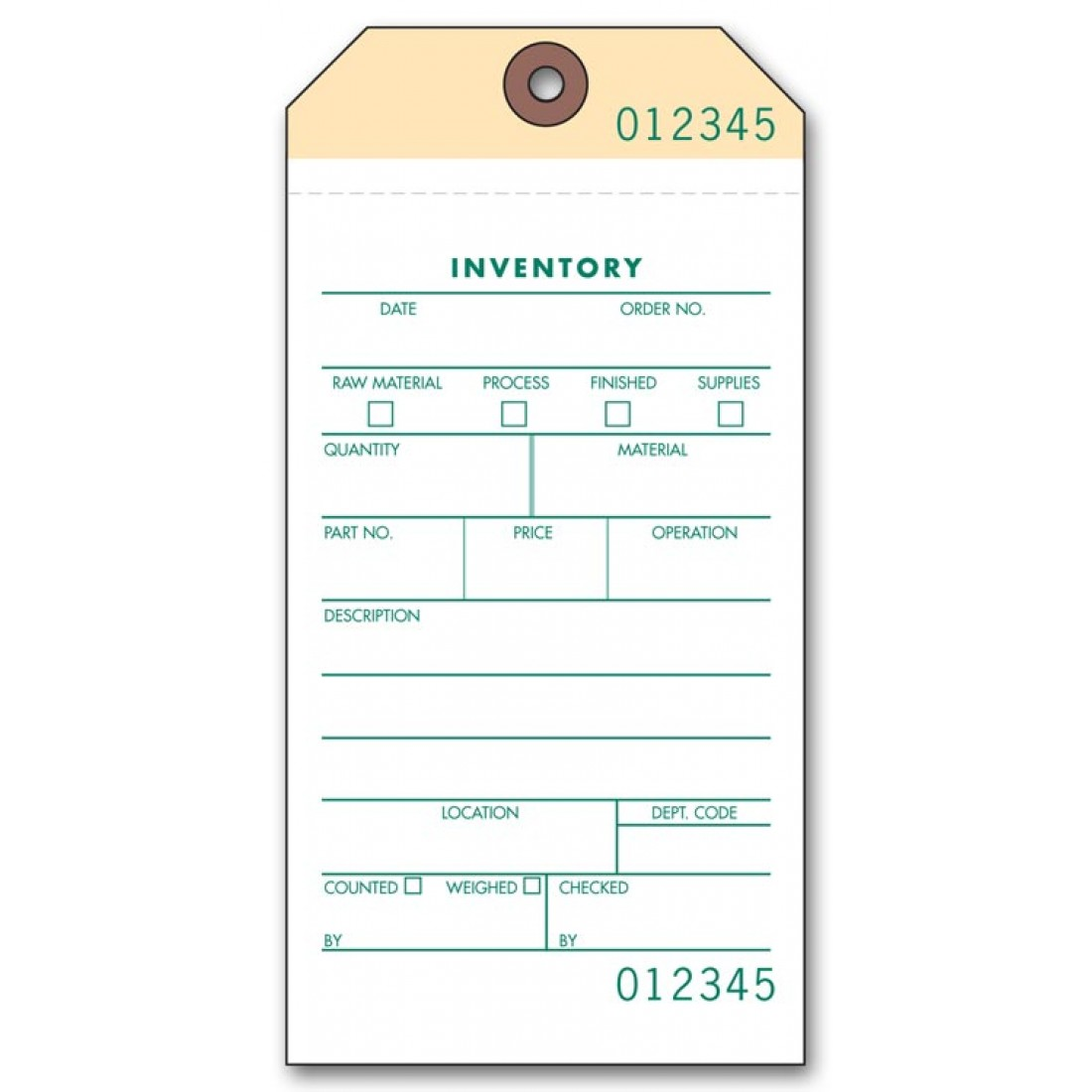 Manilla Inventory Carbonless Tags 63650 At Print Ez