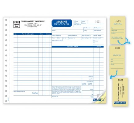 Marine Detailed Service Order Forms