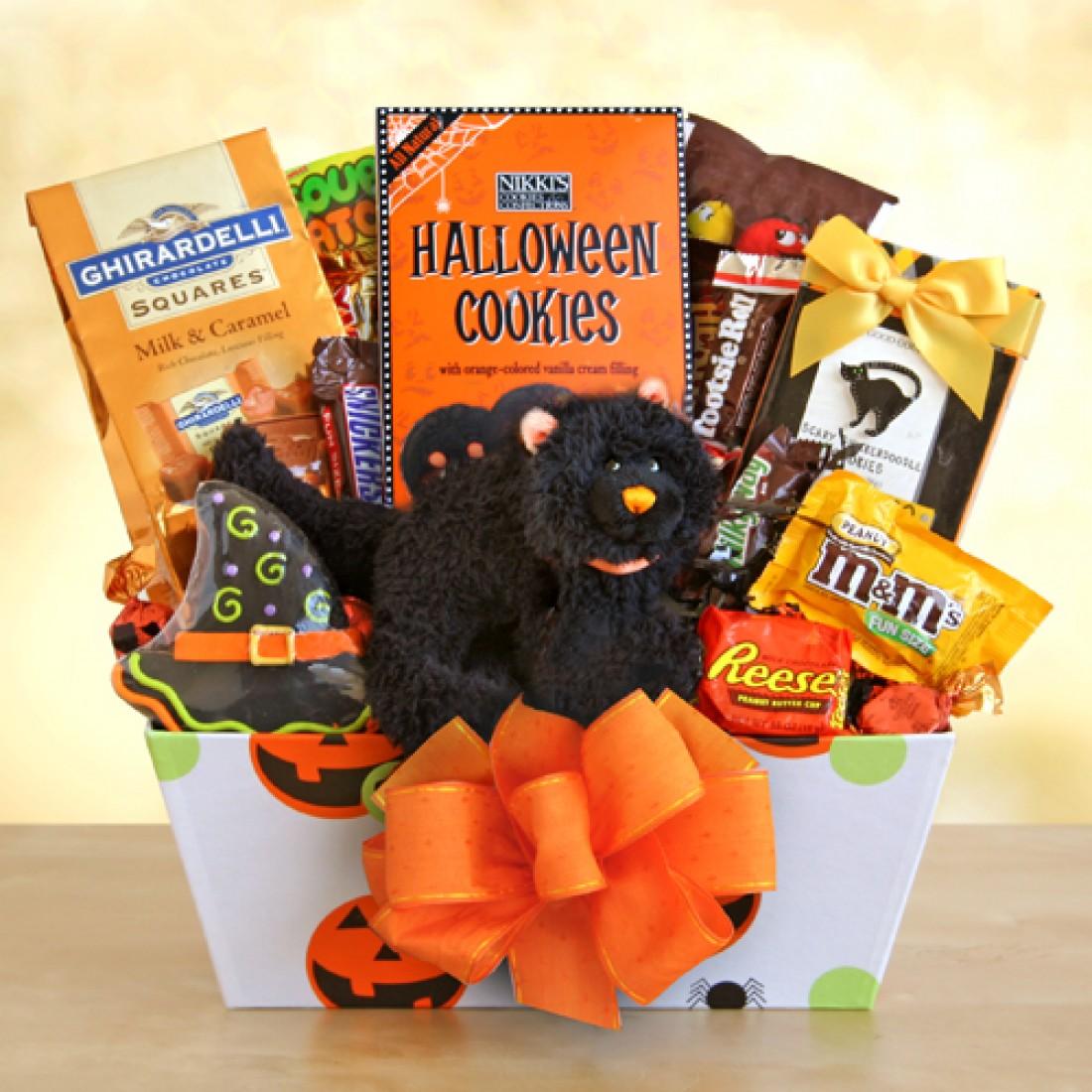 Meooow halloween gift basket free shipping