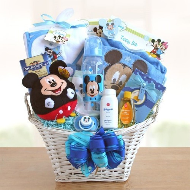 Baby Gift Baskets Nordstrom : Mickey mouse baby boy basket free shipping