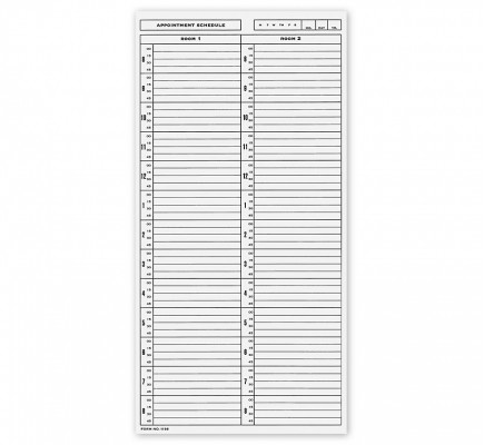 NCR Scheduling Sheets