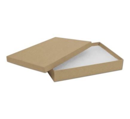 Natural Kraft Jewelry Boxes, 8 x 5 1/2 x 1 1/4