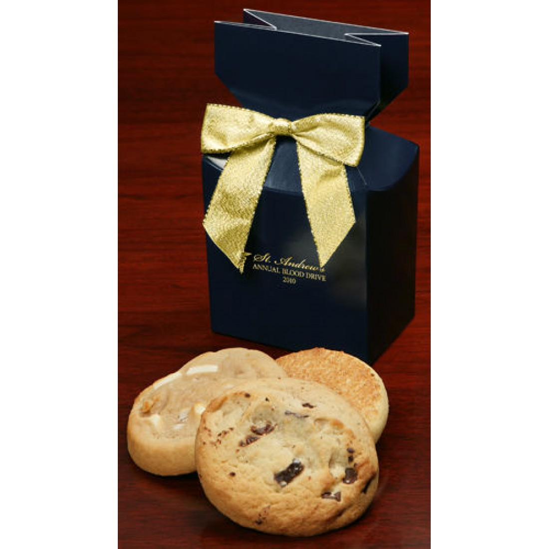 Navy Custom Boxes with Gourmet Cookies