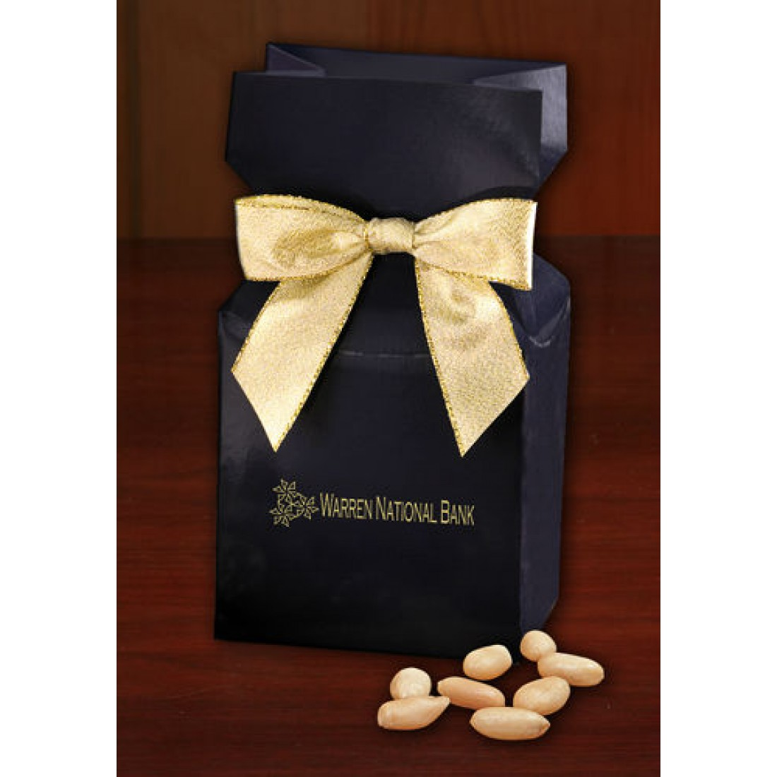 Navy Promotional Custom Box with Peanuts