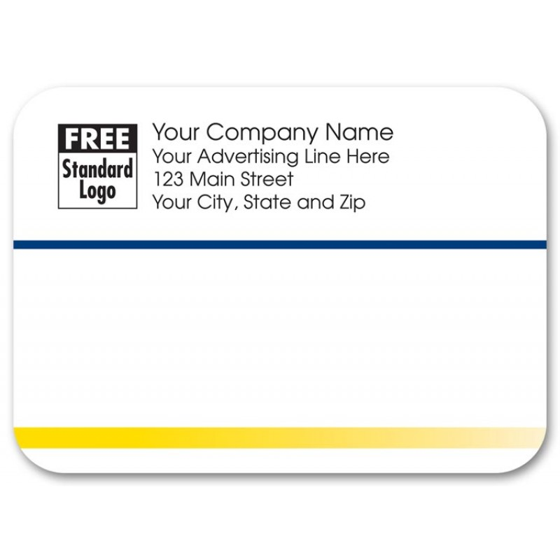 navy yellow business mailing label free shipping