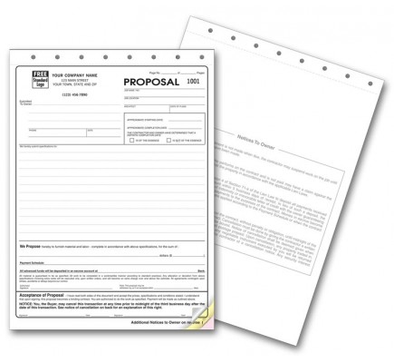 New York State Proposal Forms  At Print Ez