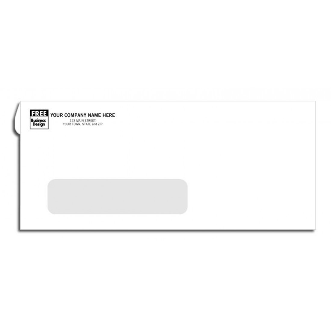 No. 10 Business Envelopes, Single Window, Confidential Security Tint