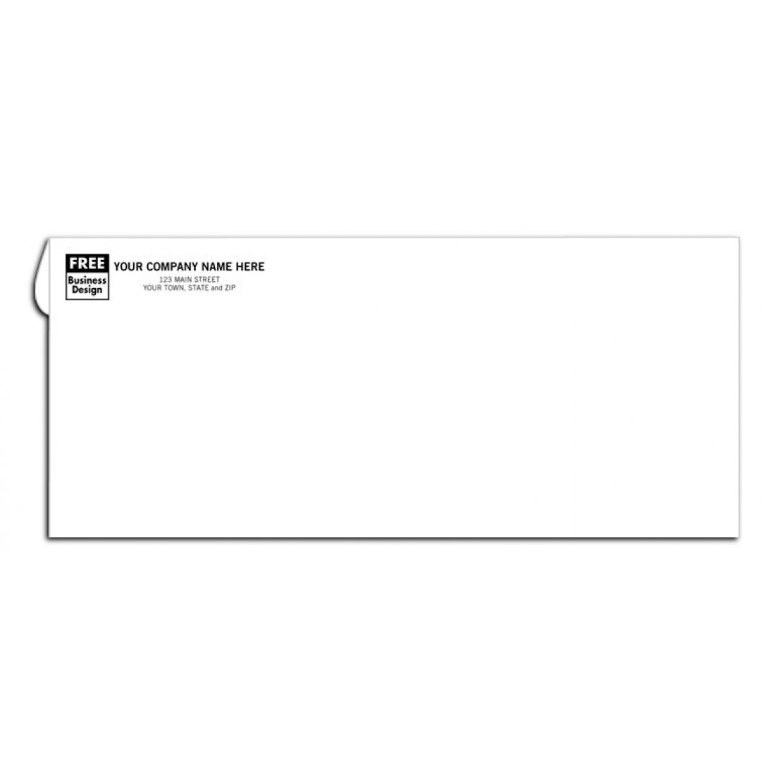 no 10 custom business printed envelopes no window free shipping