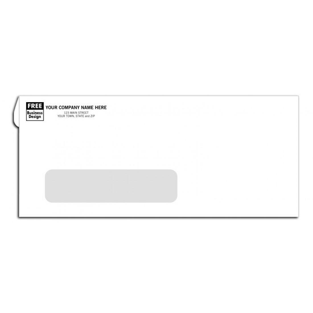 No. 10 Envelopes, Single Window, Self Seal