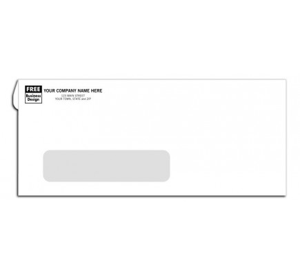 No 10 single window envelope self seal free shipping for 10 window envelope size