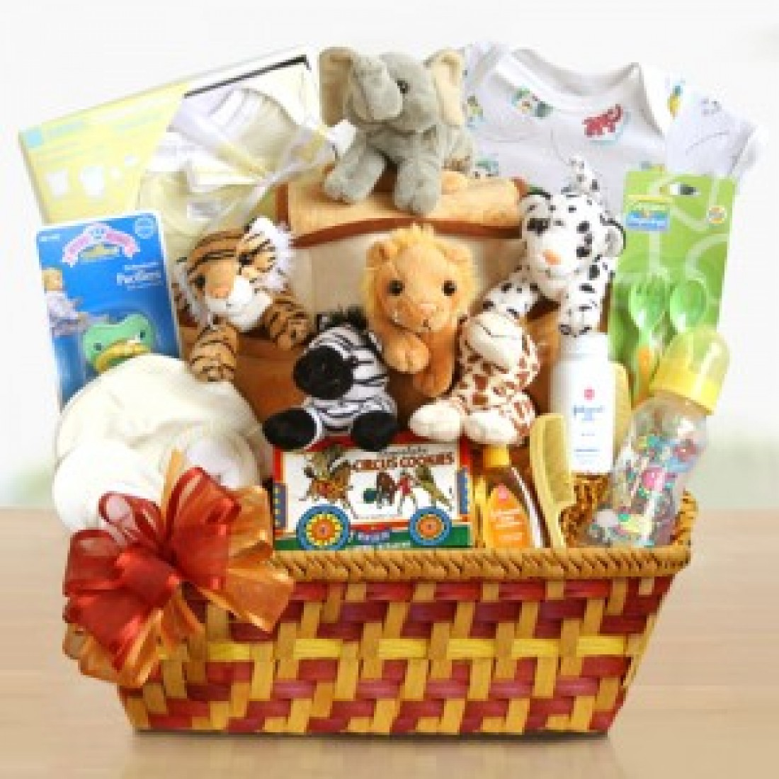 New Baby Boy Gift Baskets Free Shipping : Noah s ark baby gift basket free shipping