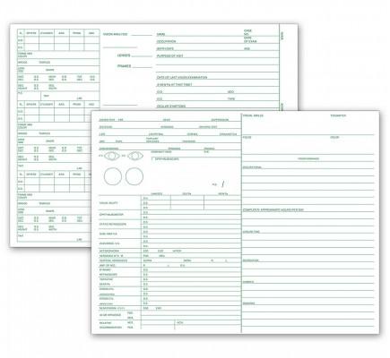 Optometry Vision Exam Analysis Records 2 Side