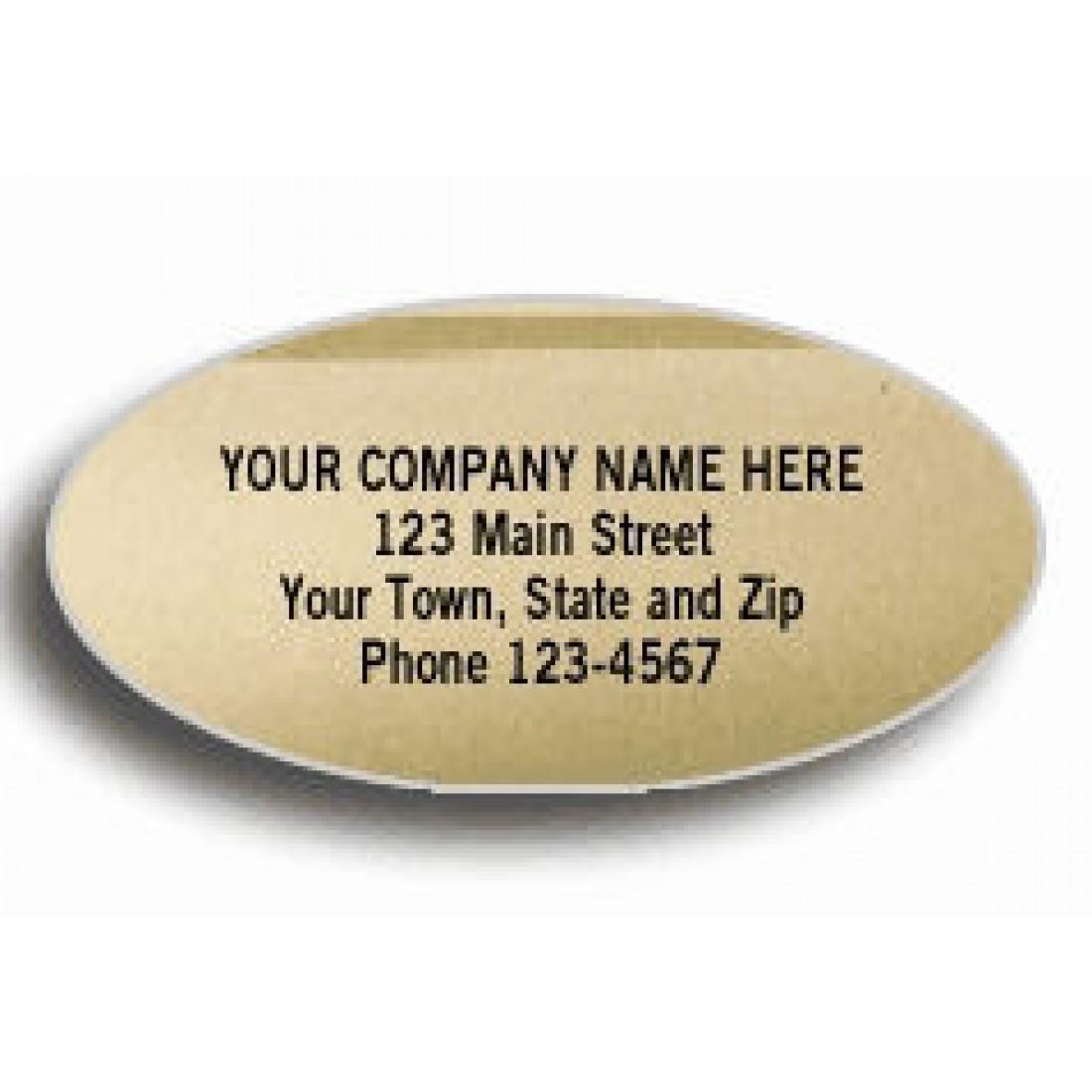 Oval Gold Labels Foil Multipurpose Address Labels