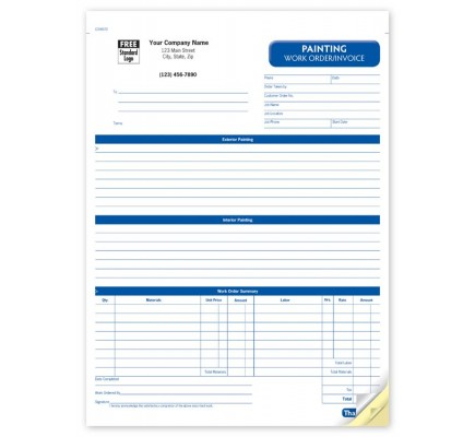 Painting Work Order Forms