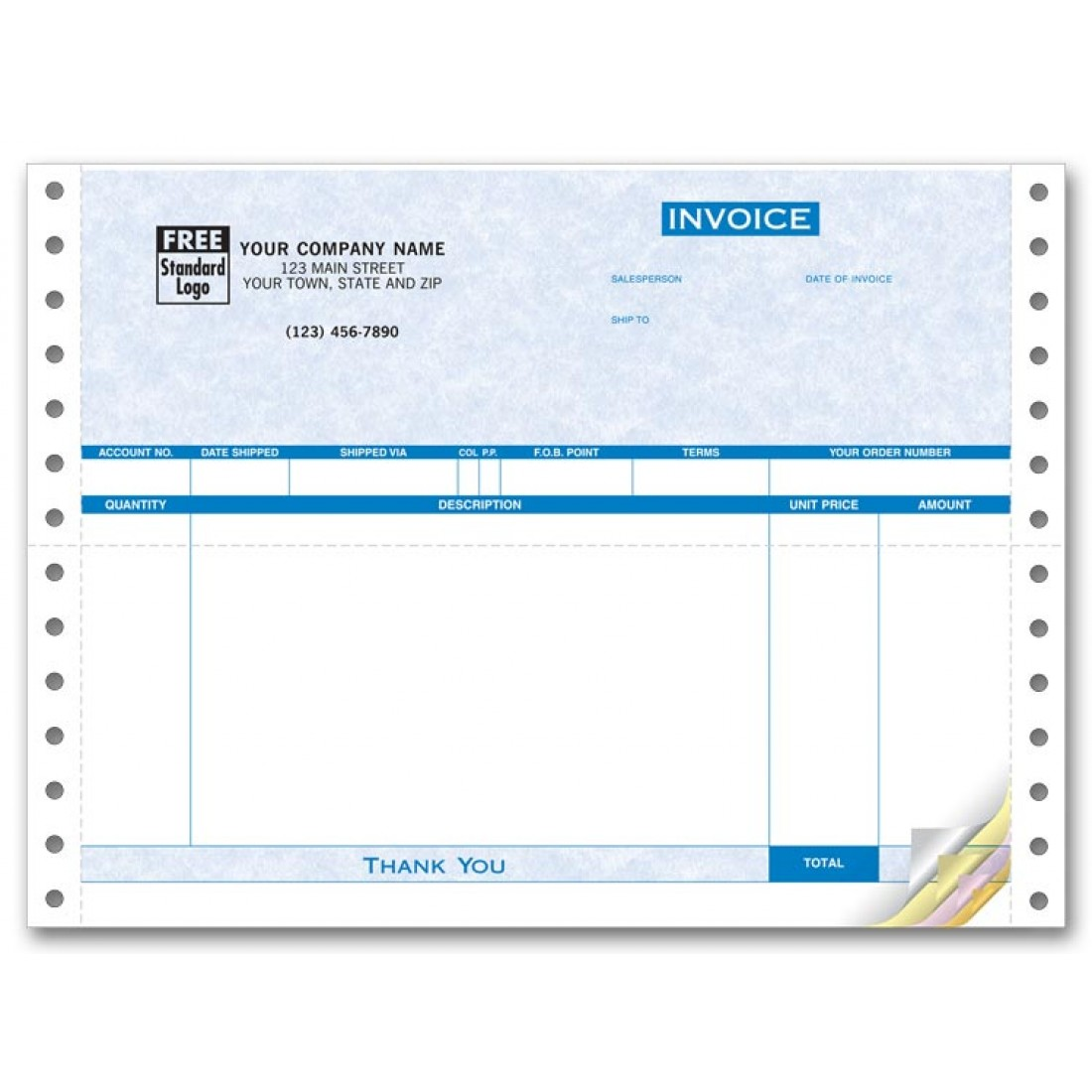 Parchment Continuous Invoice - General
