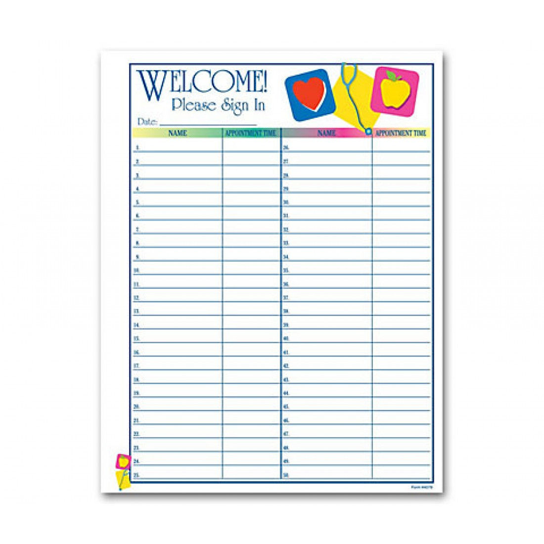 Patient Sign-In Sheet, Medical Icon Design