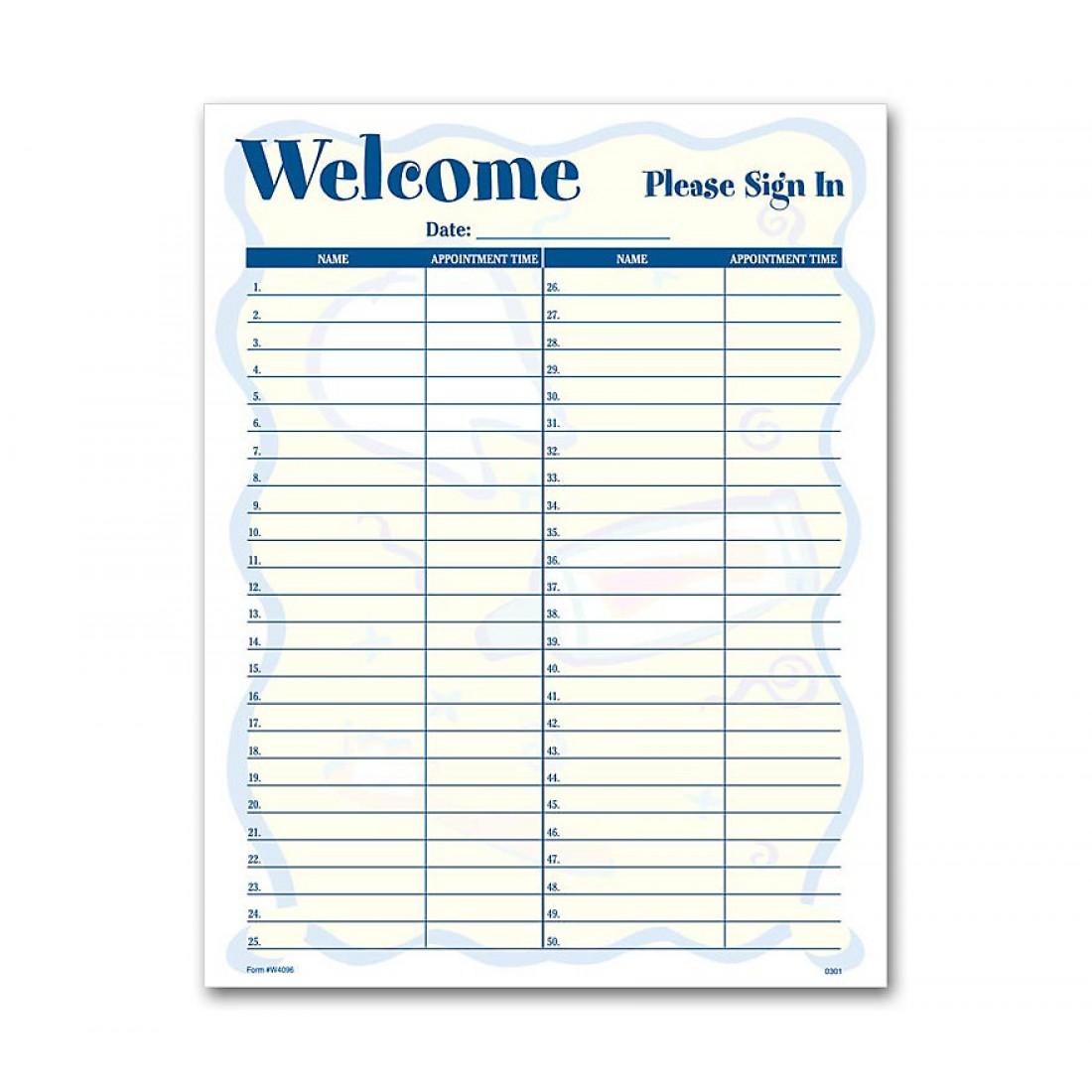 Patient Sign-In Sheet Smile Helpers Design