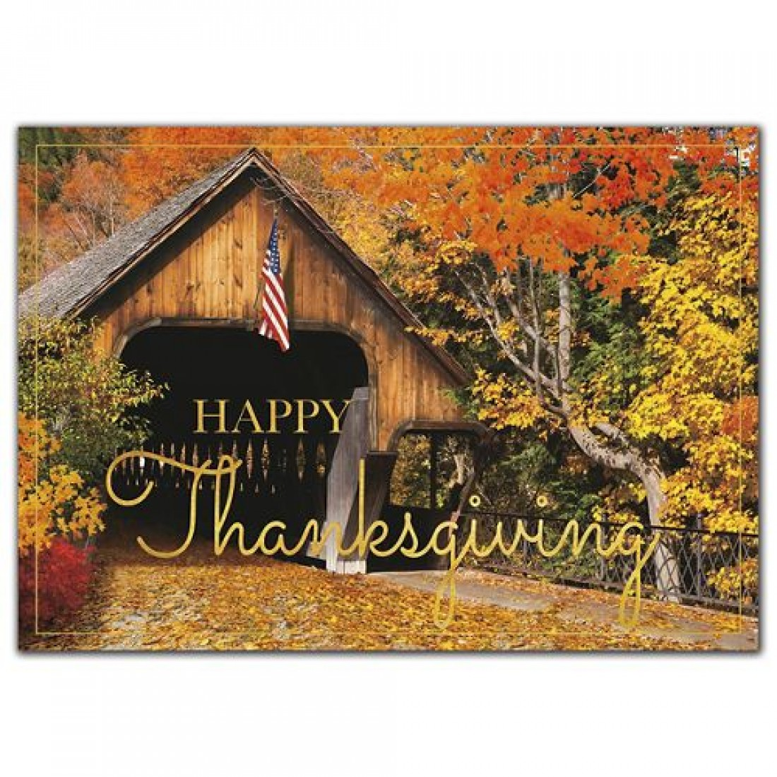 Patriotic Pass Thanksgiving Cards