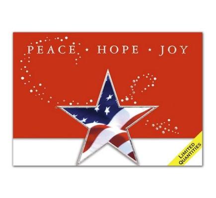 Patriotic Star Diecut Holiday Cards