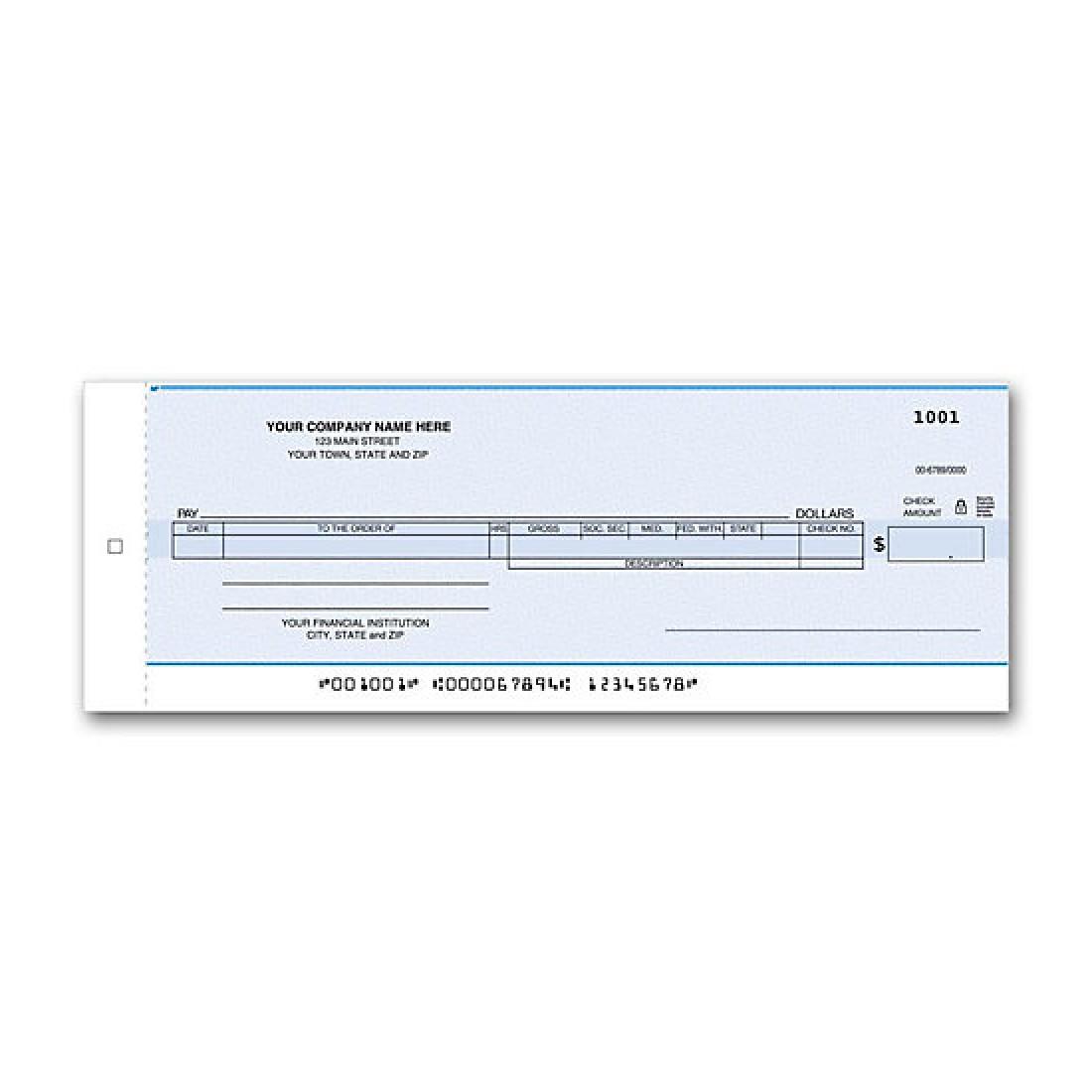 Payroll/General Disbursement Center Check