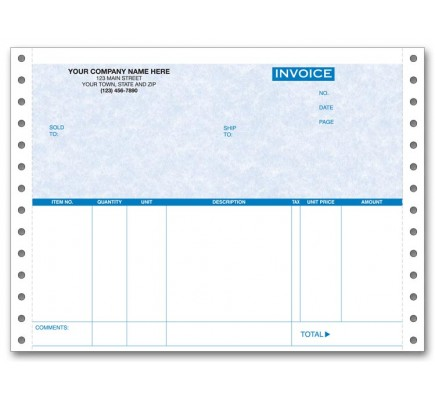 Personalized Continuous Invoices