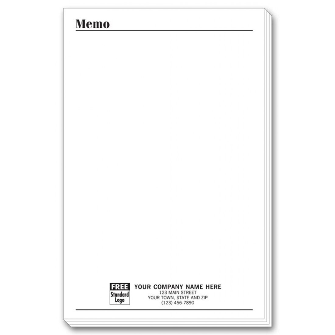 Personalized Large Memo Pads