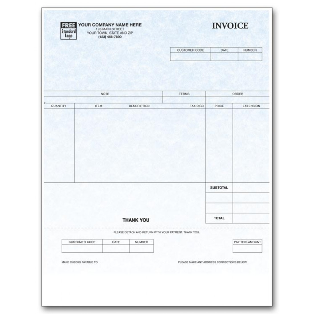 personalized laser invoices free shipping