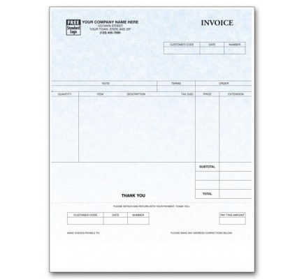 Personalized Laser Invoices