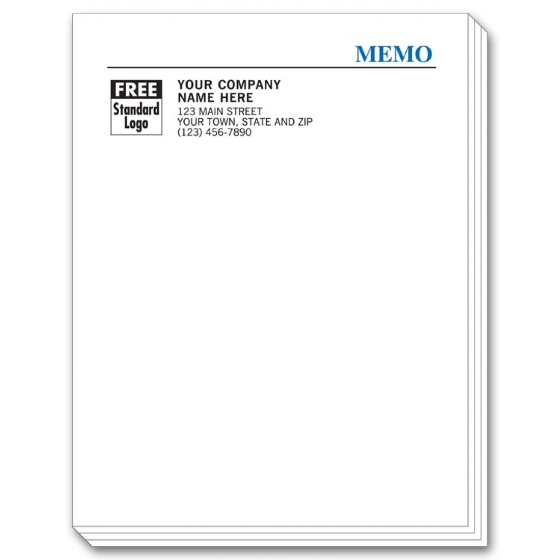 Personalized Memo Pad Sheets