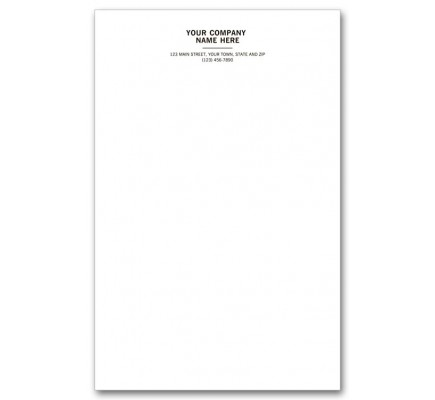 Personalized Notepads, Letterhead Format, Large