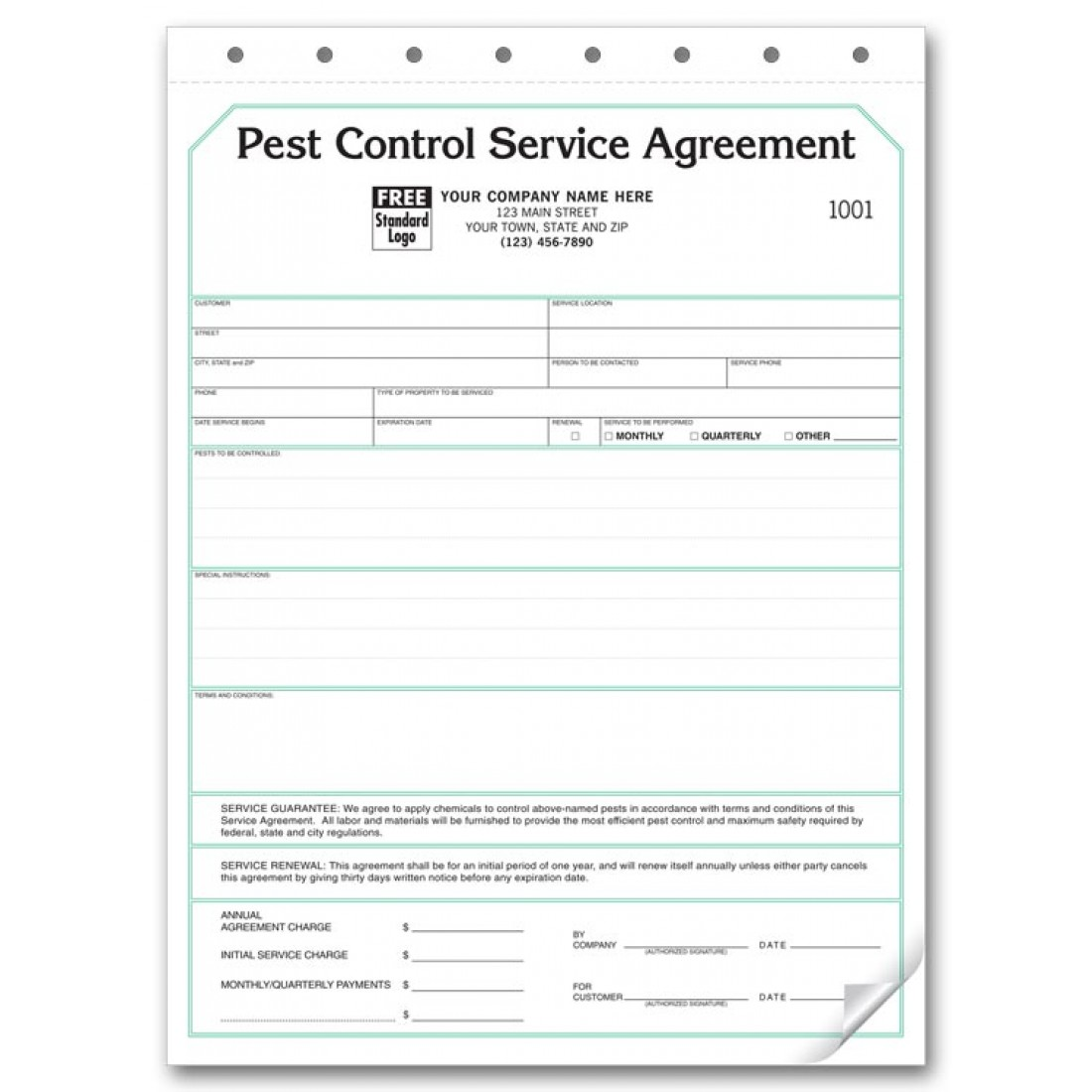 Pest Control Contract Service Agreements Free Shipping - Pest control invoice template free best online gun store