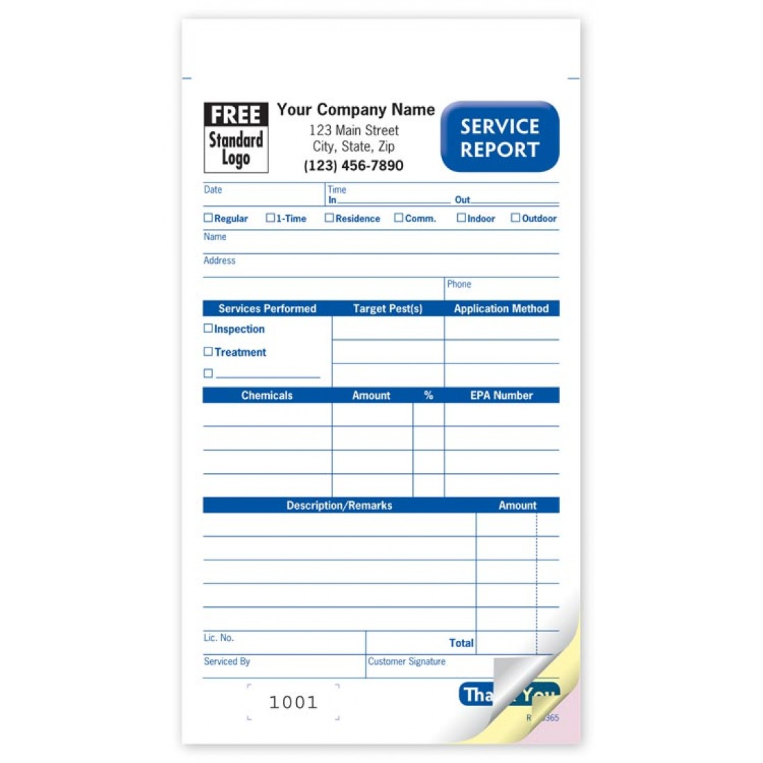 Pest Control Service Order Book