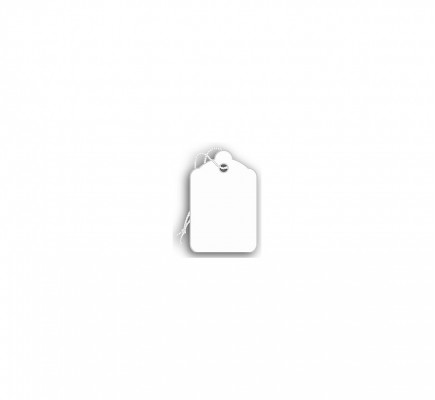 Price Tags, Blank, White, 15/16 X 1 7/16""