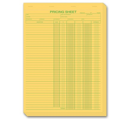 Pricing Estimate Forms in Pads