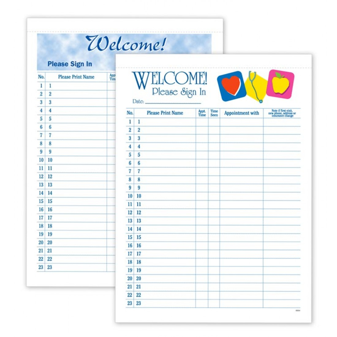 privacy sign in sheets kit free shipping