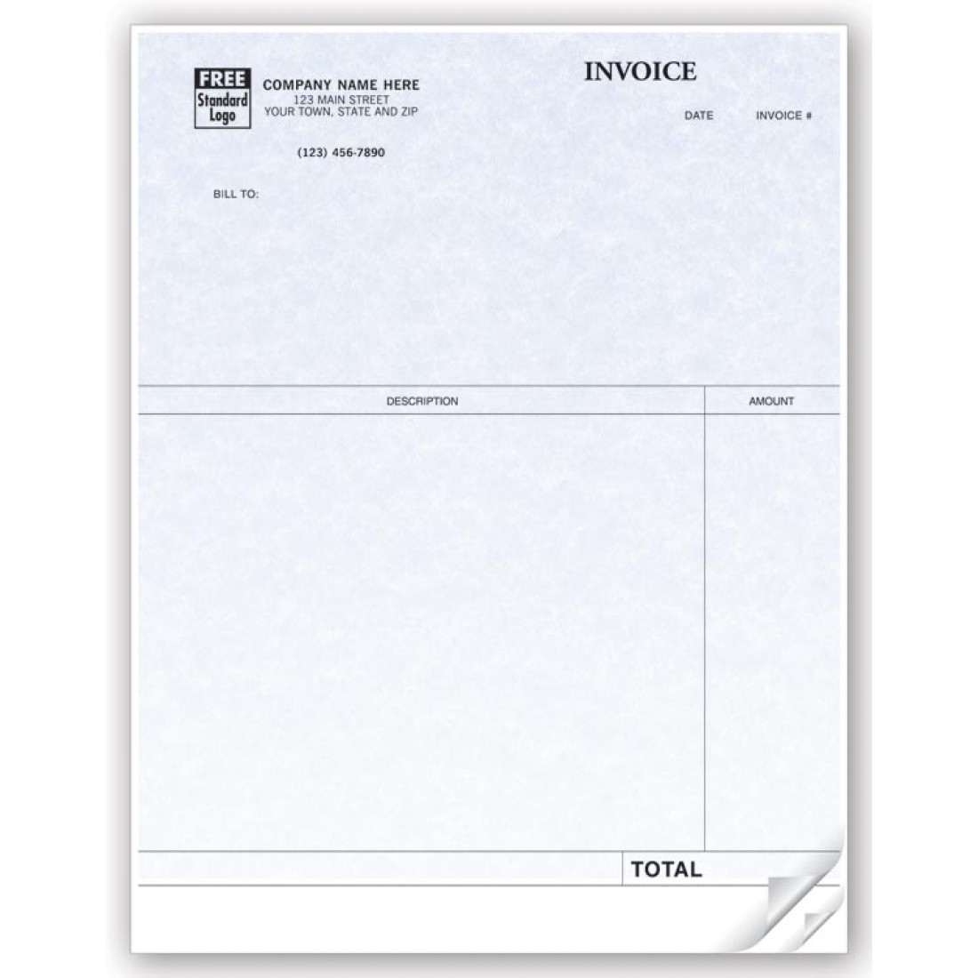 Professional Laser Invoice compatible with QuickBooks Parchment