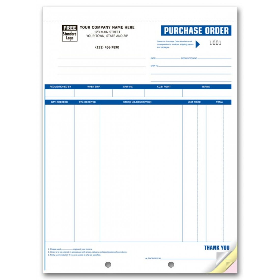 Professional Purchase Order Forms